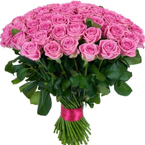 Купить на заказ Заказать Букет из 101 розовой розы с доставкой по Риддеру с доставкой в Риддере