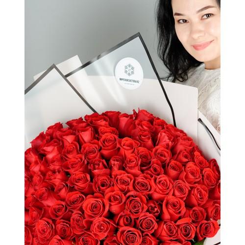 Купить на заказ Заказать Букет из 101 красной розы с доставкой по Риддеру с доставкой в Риддере