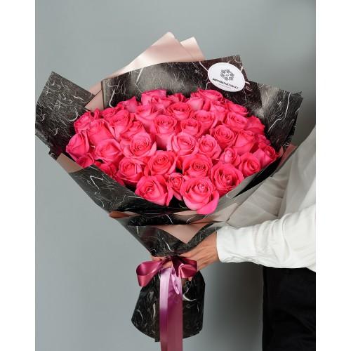 Купить на заказ Заказать Букет из 51 розовых роз с доставкой по Риддеру с доставкой в Риддере