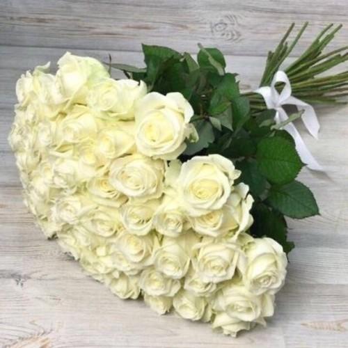 Купить на заказ Заказать Букет из 51 белой розы с доставкой по Риддеру с доставкой в Риддере